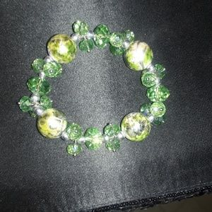 Jewelry - Green w/Silver Accents and Green, Black and Pearl
